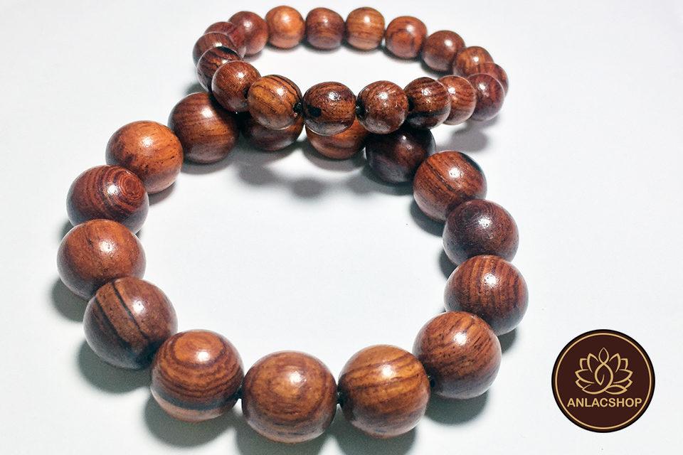Vòng chuỗi hạt đeo tay gỗ Cẩm Lai Cao Cấp cho Nữ 03