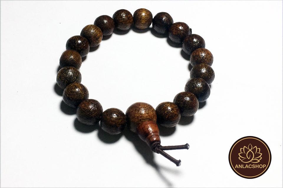Vòng đeo tay chuỗi hạt gỗ dâu rừng cho bé 01
