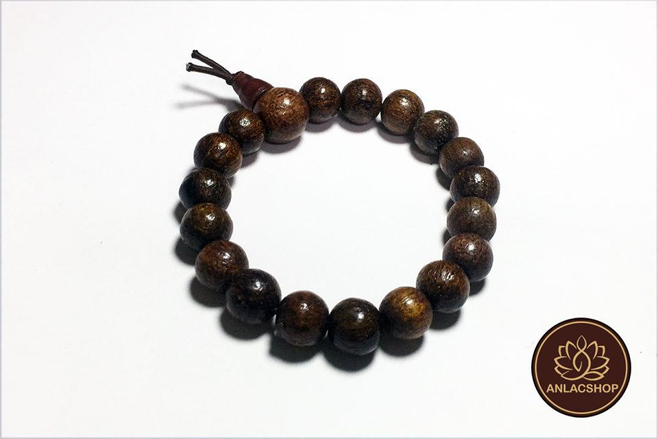 Vòng đeo tay chuỗi hạt gỗ dâu rừng cho bé 02