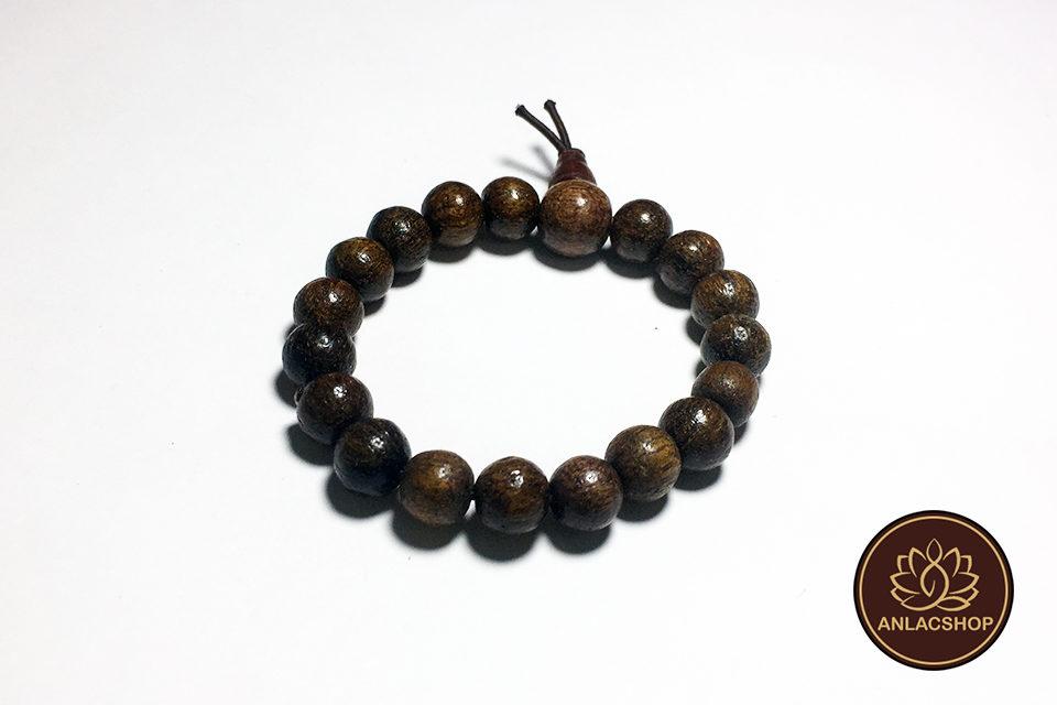 Vòng đeo tay chuỗi hạt gỗ dâu rừng cho bé 03