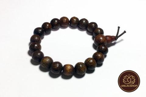 Vòng đeo tay chuỗi hạt gỗ dâu rừng cho bé