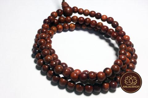 Chuỗi vòng quấn tay 108 hạt gỗ Cẩm Lai