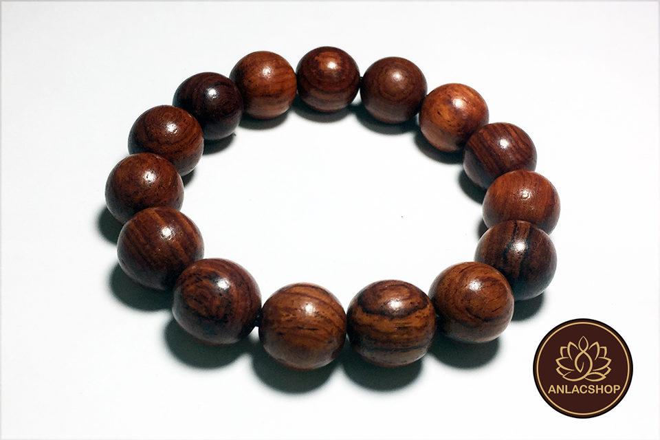 Vòng chuỗi hạt đeo tay gỗ Cẩm Lai Cao Cấp cho Nam