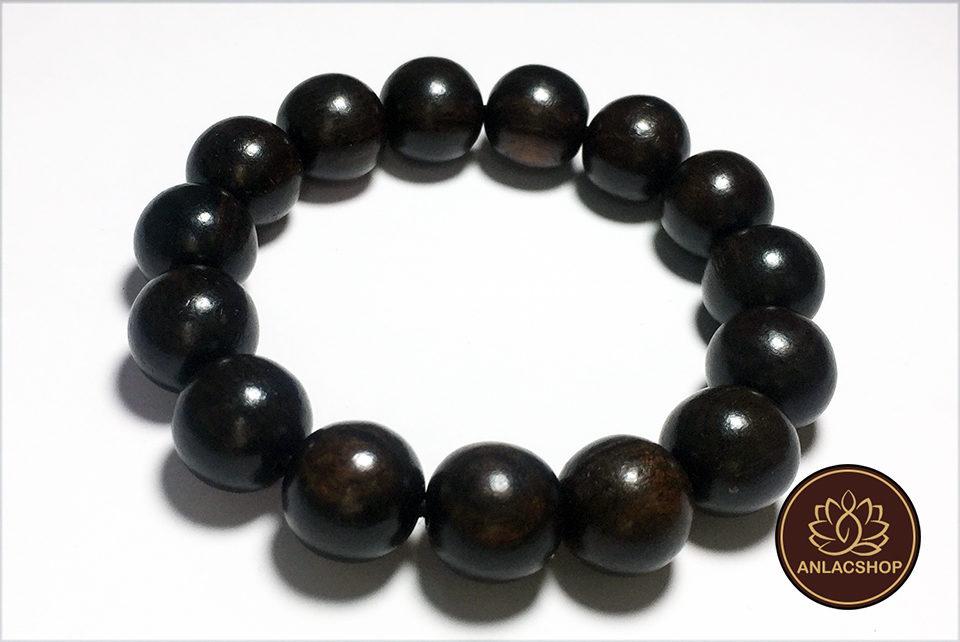 Vòng chuỗi hạt đeo tay gỗ Mun Cao Cấp cho Nam 02