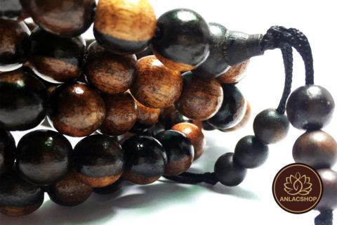Chuỗi 108 hạt gỗ Mun 10 ly 02