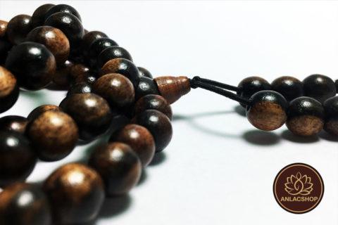 Chuỗi 108 hạt gỗ Mun 8 ly
