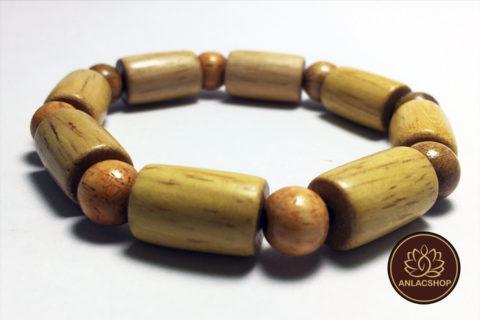 Vòng gỗ Trắc hạt Trúc 02