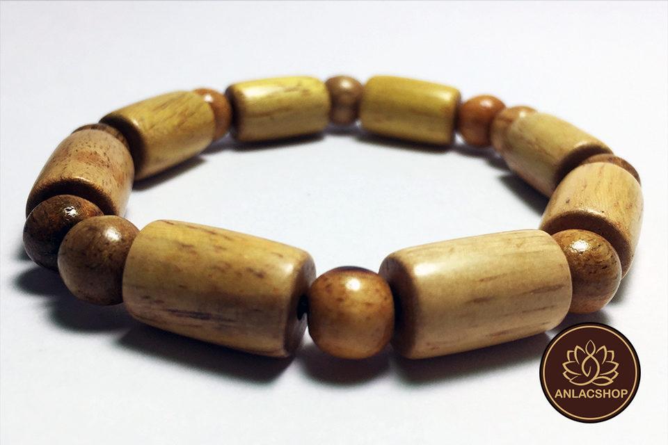 Vòng gỗ Trắc hạt Trúc 03