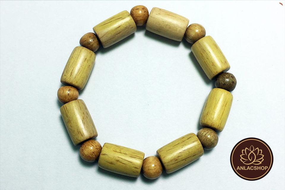 Vòng gỗ Trắc hạt Trúc 06