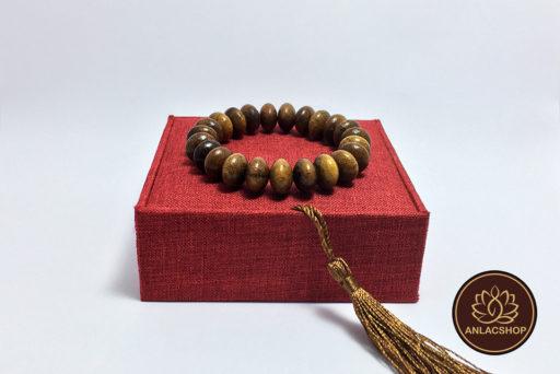 Vòng tay gỗ dâu tằm hạt dẹp 12 li 07
