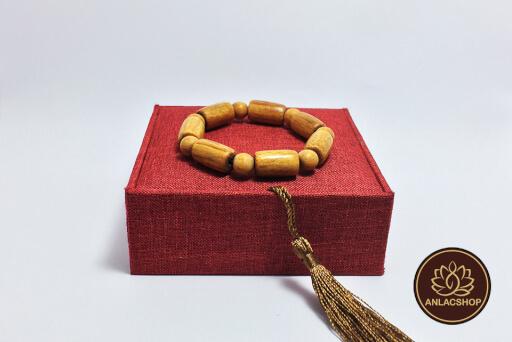 Vòng tay gỗ Huyết Rồng hạt trúc cao cấp 07